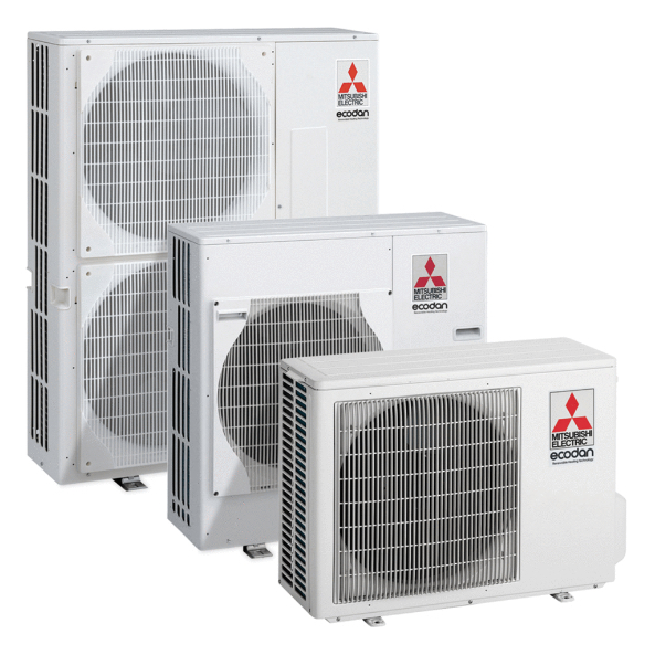 The electric Ecodan heat pump - technology for domestic applications.